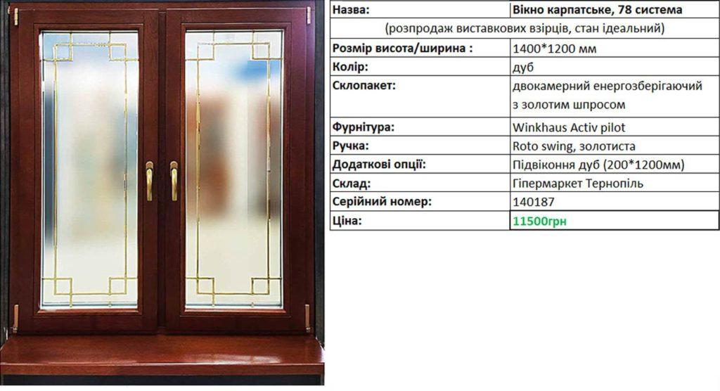 Ціна вікна карпатського система 78